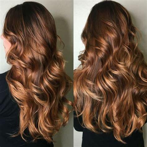 chestnut crush warm brunette base honey caramel highlights hair color trends 2018 best hair color ideas for 2018