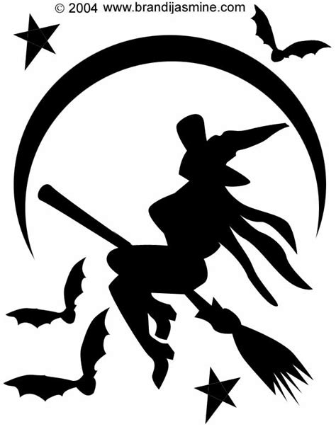 witch pumpkin template witch pumpkin carving pattern brandi s emporium