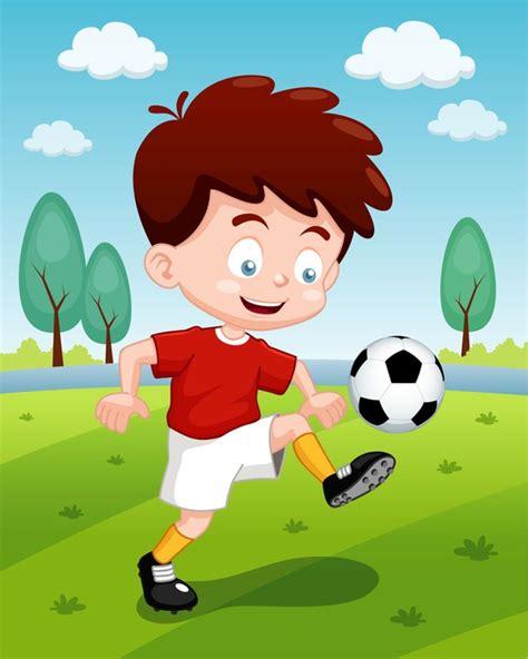 imagenes de niños jugando futbol animados fotomural ilustraci 243 n de dibujos animados ni 241 os jugando al