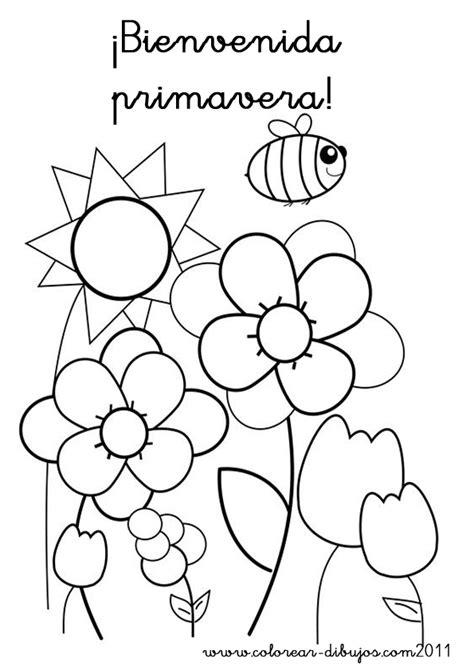 imagenes para pintar sobre la primavera dibujos de primavera para imprimir y colorear colorear
