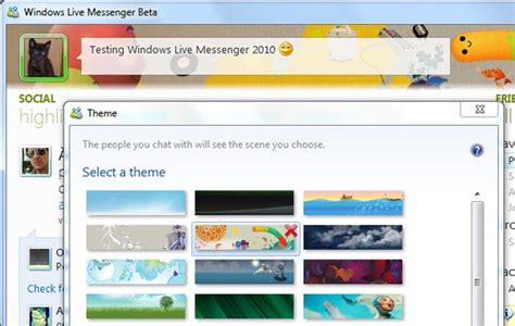 new themes live new features in windows live messenger 2010 softonic