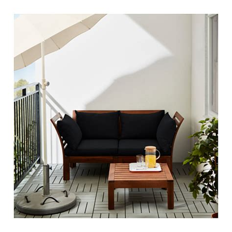 ikea applaro sectional 196 pplar 214 h 197 ll 214 2 seat sofa outdoor brown stained black