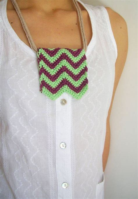 zig zag scallops necklace pattern diy zigzag necklace hazlo t 250 mismo collar zig zag free
