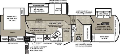 5th wheel cer floor plans best 5th wheel floor plans fifth wheel floorplans