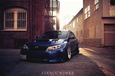 subaru wrx stance jaycee s subaru wrx on slant lip bbs rs wheels