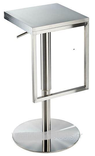 collete modern adjustable bar stool white brushed steel brushed stainless steel chrome satin kitchen breakfast bar