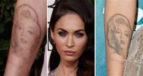 tattoo removal celebrities megan fox is removing of idol with mental illness