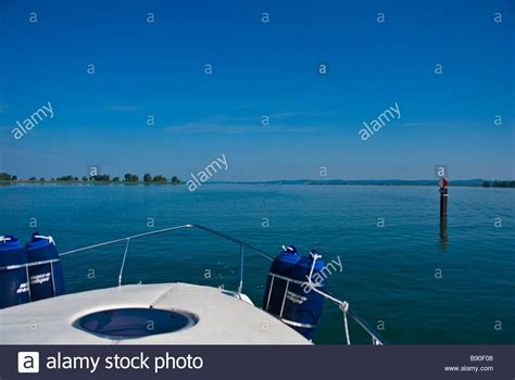 facing the bow of a boat where is the port side lake alp lake boat blue stock photos lake alp lake boat