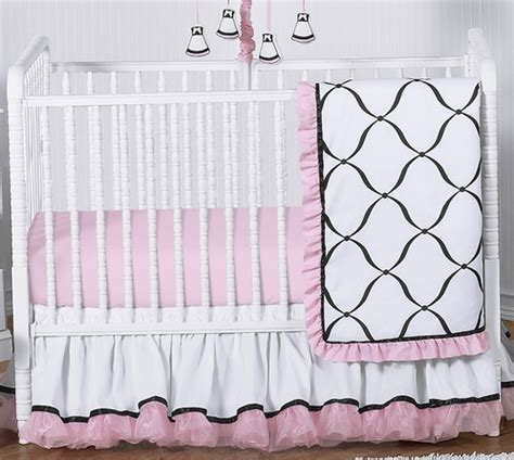 Pink Black And White Crib Bedding Pink Black And White Princess Baby Bedding 11pc Crib Set Only 189 99
