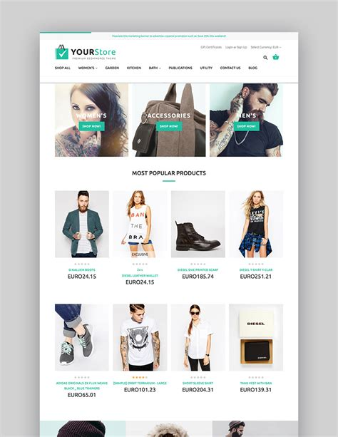 themeforest yourstore 15 best bigcommerce themes new on themeforest 2017