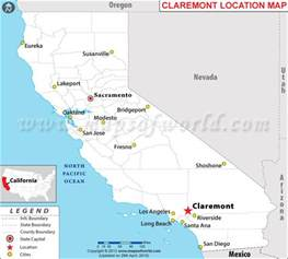 map of claremont california where is claremont california