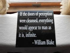 William Doors Of Perception Poem by 1000 Images About William On William