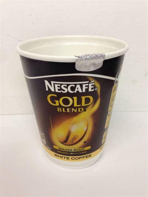 Baru Nescafe Gold Premium Mix White Coffee 40 cups of nescafe gold blend white coffee 2go 2 go foil sealed in cup 12oz