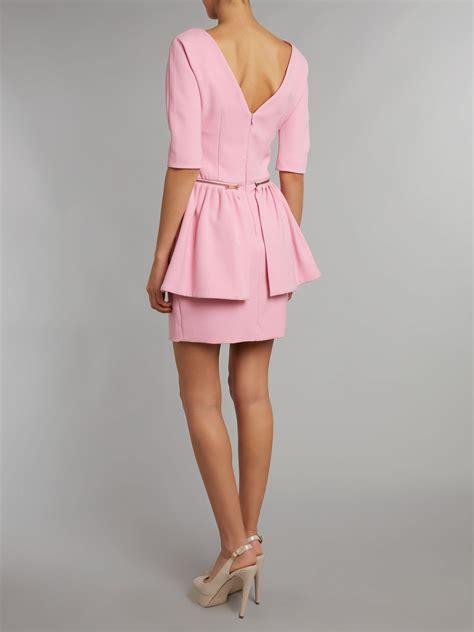 light pink peplum dress twenty8twelve peplum dress 3 4 sleeve in pink light pink