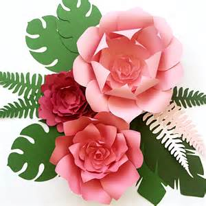 decor ideas tropical large paper flowers diy templates and ready to ship paperflora
