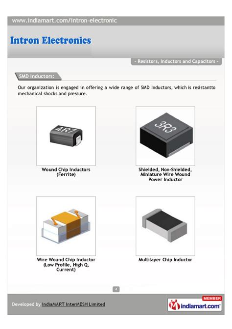 inductors and capacitors intron electronics thane resistors inductors and capacitors