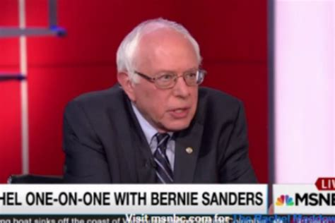 does karl dean agree with hillary clinton that tennessee bernie sanders tells rachel maddow what hillary clinton