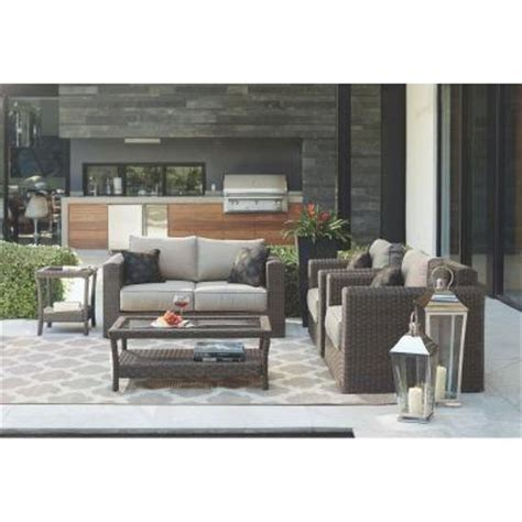 home decorators furniture home decorators collection naples dark 4 piece all weather