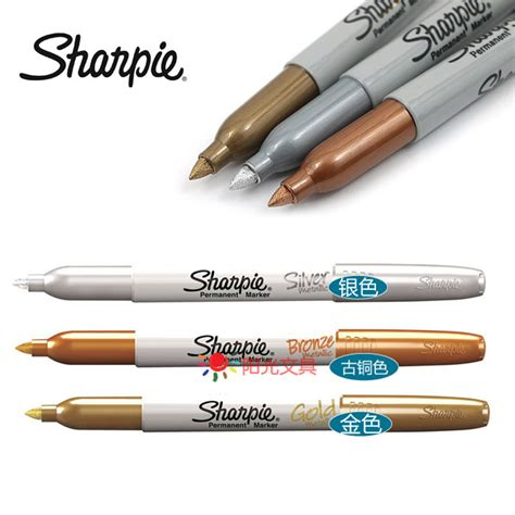 free shipping 1 pc american sanford sharpie silver gold