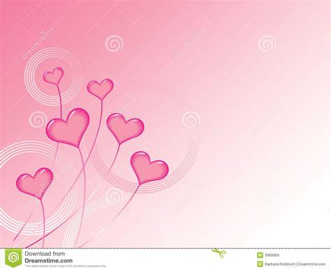 valentines pink pink valentines hearts background stock vector