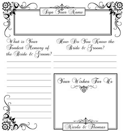 guest book layout design ge designs nicole s guestbook page