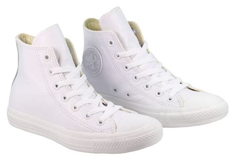 Converse All Fullwhite Sneakers Putih converse womens trainers white mono leather high tops landau store