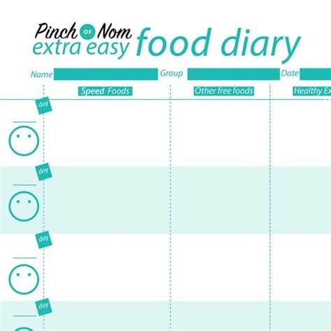 free printable food diary uk 7 day slimming world meal plan syn free extra easy