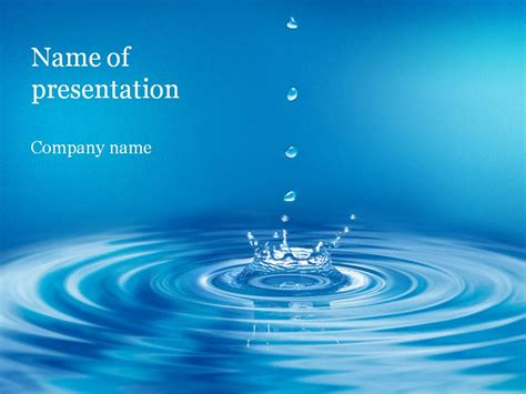 Clear Water Powerpoint Template Background For Presentation Themed Powerpoint Template