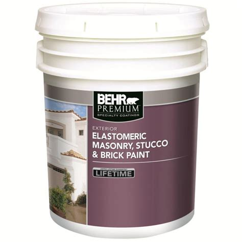 behr behr elastomeric masonry stucco brick paint white base 18 3 l the home depot canada