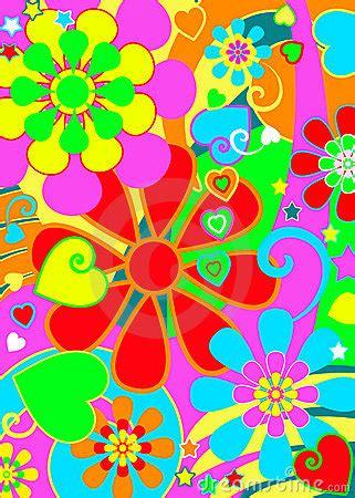 hippie chic flower power stock photo image