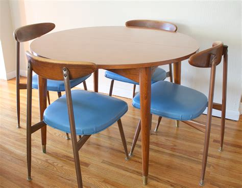 modern dining table chairs mid century modern viko chairs dining table picked vintage
