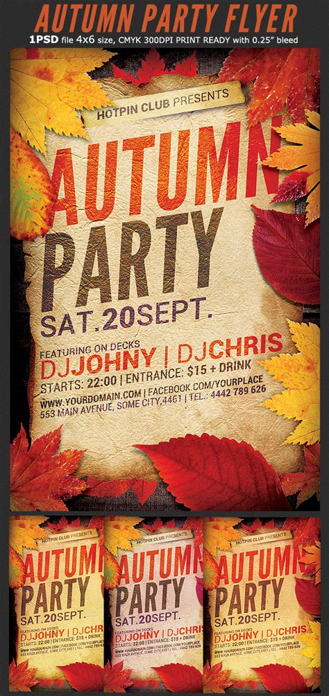 templates for fall flyers autumn party flyer template flyerstemplates