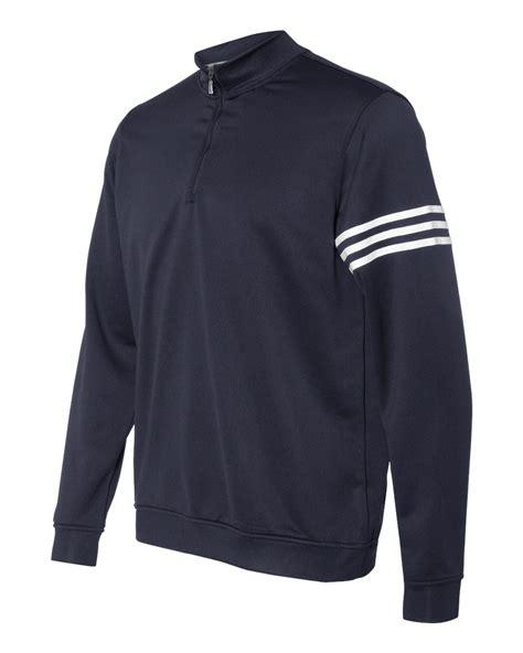 adidas quarter zip adidas golf climalite 3 stripes french terry quarter zip