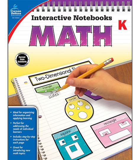 interactive notebooks math resource book grade k carson