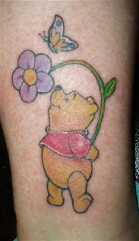 winnie the pooh tattoos winnie the pooh flower and butterfly