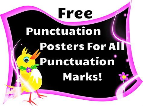 printable punctuation poster free this is a set of ten colorful posters of different
