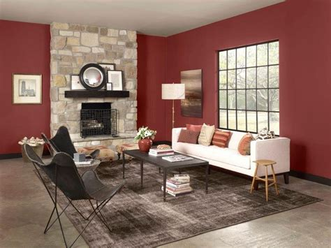 red paint colors for living room warms living rooms paint color cinnabar csp 1165