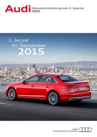 Audi Umsatz by Audi Steigert Auslieferungen Umsatz Und Ergebnis In Den