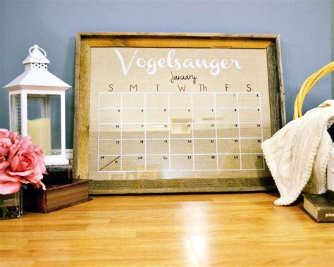 Diy Wall Calendar Diy Personalized Wall Calendar The Cofran Home