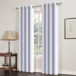 Blackout Curtains Bedroom 2pcs Blackout Curtains Thermal Insulated Solid Grommets Curtains For Bedroom Ebay