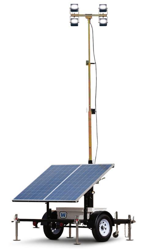 Solar Light Towers Wanco 600 Watt Solar Led 20 Foot Telescoping Light Tower