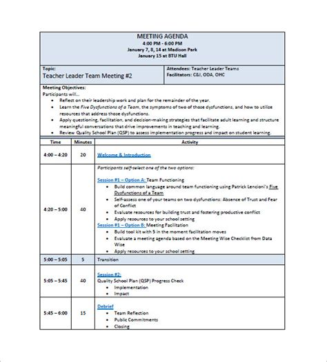 Templates For Minutes Of Meetings And Agendas by Doc 580660 Staff Meeting Agenda Sle Sle Staff
