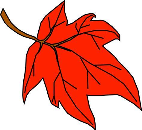 leaf clipart orange leaf clip at clker vector clip