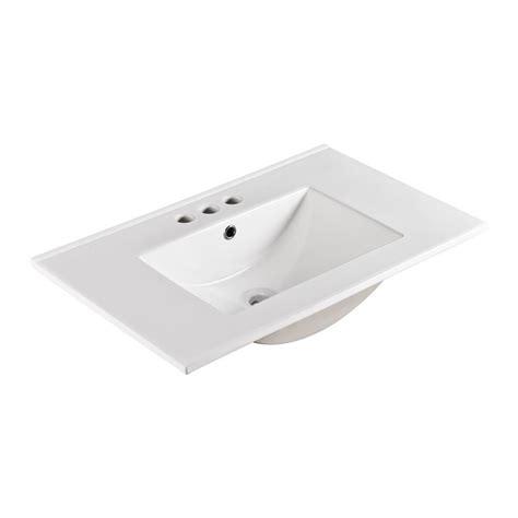 30 drop in sink bellaterra home serres 30 in drop in ceramic bathroom