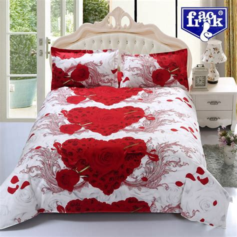 heart bedding f wqx2002 3d bedding set red love heart shaped duvet cover