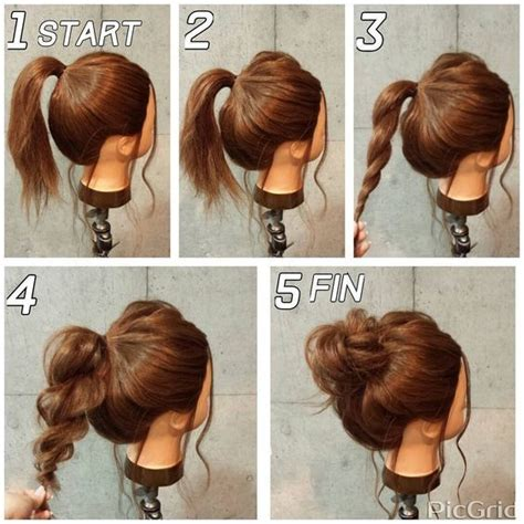 how to do a messy updo with medium legnh thin hair best 25 easy work hairstyles ideas on pinterest simple
