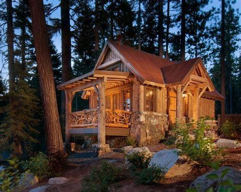 small cabin exterior rustic  metal roof metal roof
