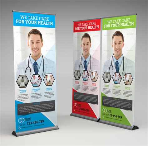 medical health roll up banner templates on creative market