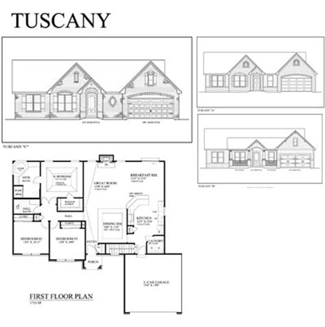 Tuscany Floor Plans by Tuscany