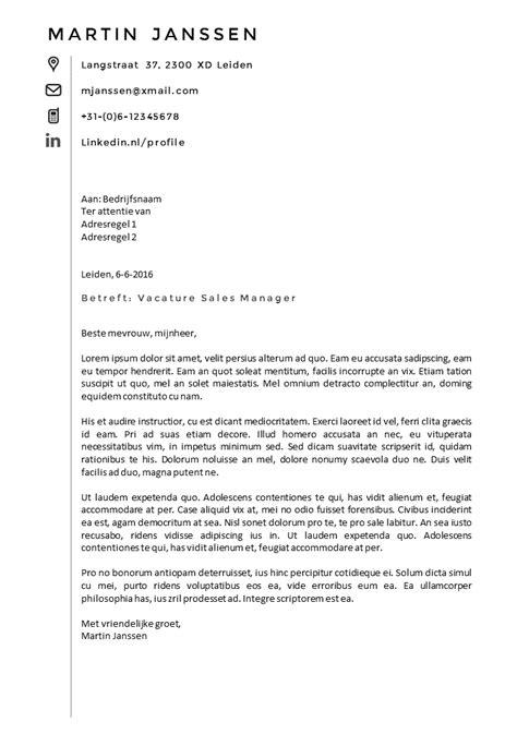 Cv Sjabloon Openoffice Open Sollicitatiebrief Voorbeeld